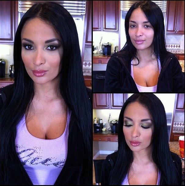 Порнозвёзды до и после макияжа (53 фото)