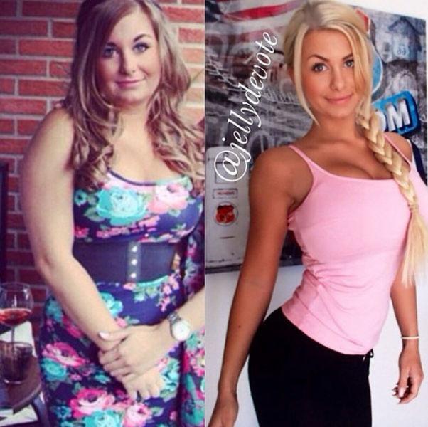 Девушка решила похудеть (30 фото)