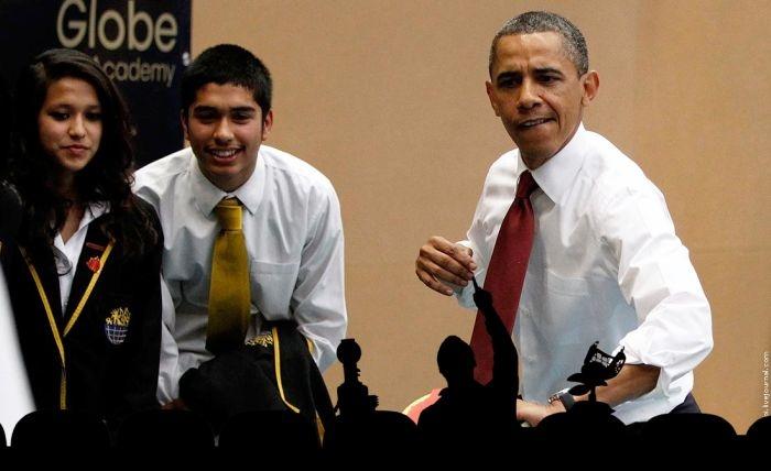 Фотожаба на Барак Обаму играющего в настольный тенис (31 фото)