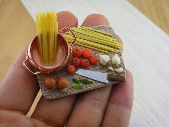 Миниатюрные копии еды Шайя Аарона