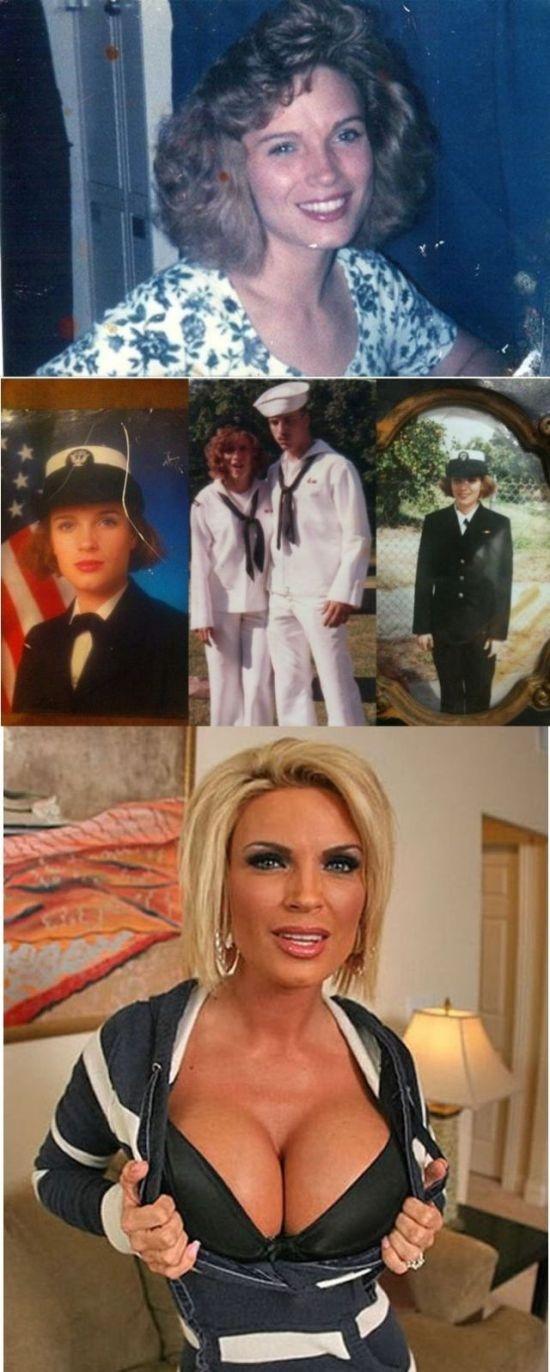 Порноактрисы до  карьеры и после (21 фото)