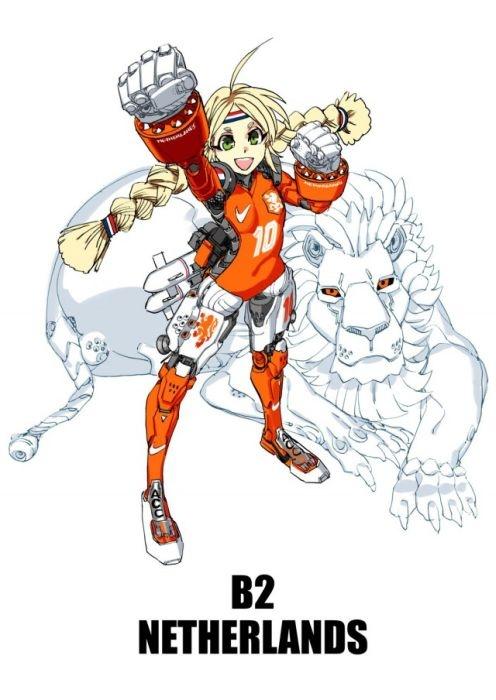 Сборные по футболу в анимэ стиле (32 картинки)