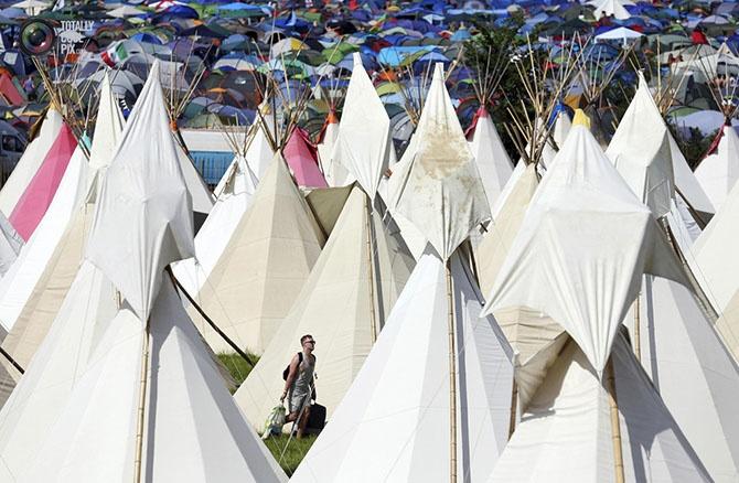 Как проходит Гластонберийский фестиваль 2014