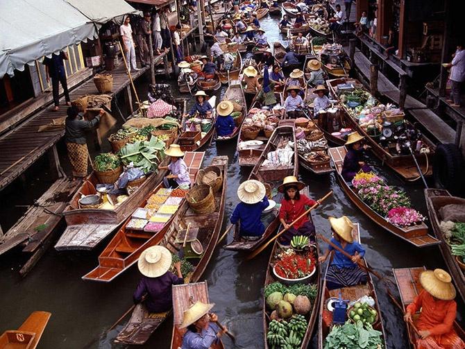 Плавучие рынки по всему миру