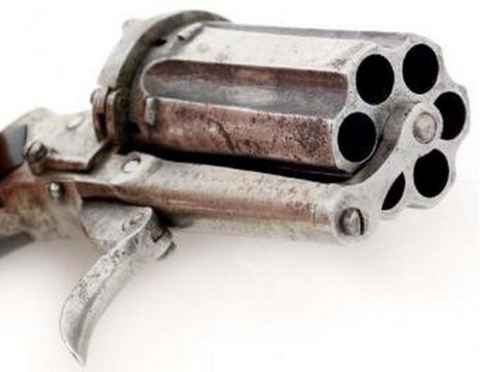 Шпилечный револьвер - средство самозащиты середины 19 века (10 фото)