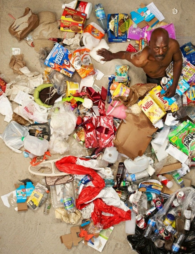 Сколько мусора производит человек всего за неделю
