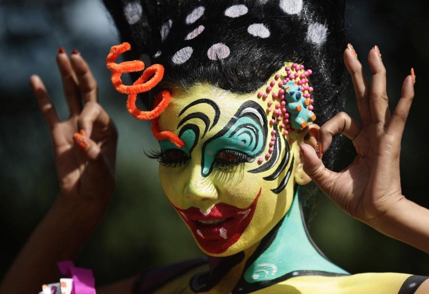 Как проходил международный фестиваль боди-арта