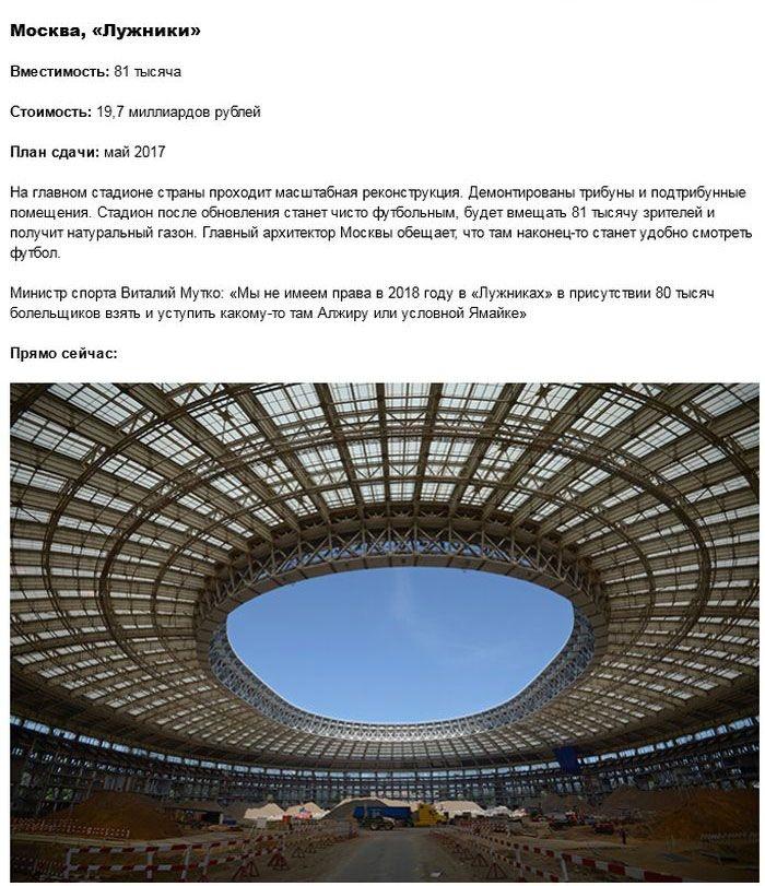 Подготовка стадионов к ЧМ-2018 в России (23 фото)