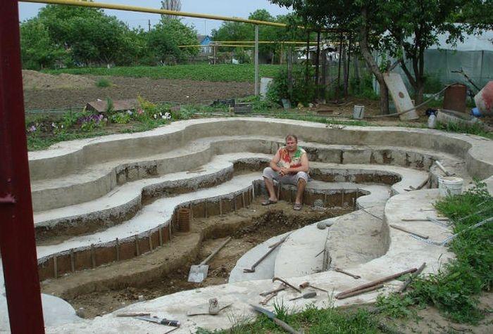 Строим бассейн на дачном участке своими руками (20 фото)