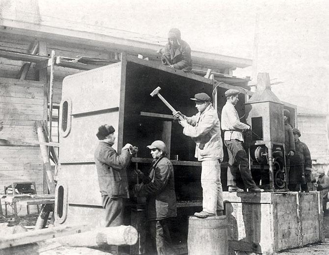 Как строили первую очередь Московского метрополитена (75 фото)