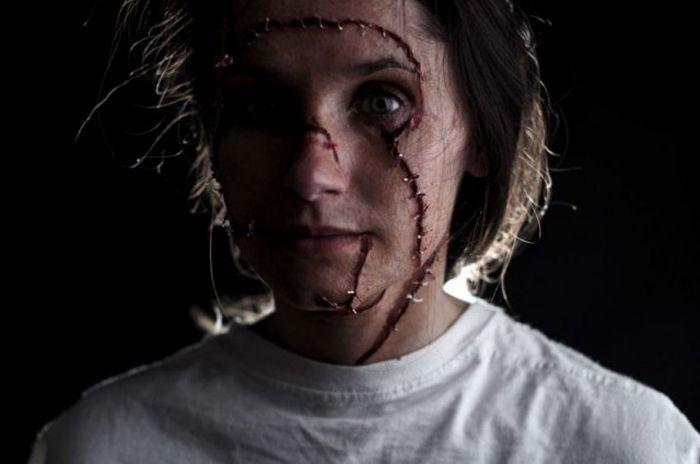 Создание грима для фильмов ужаса (23 фото)