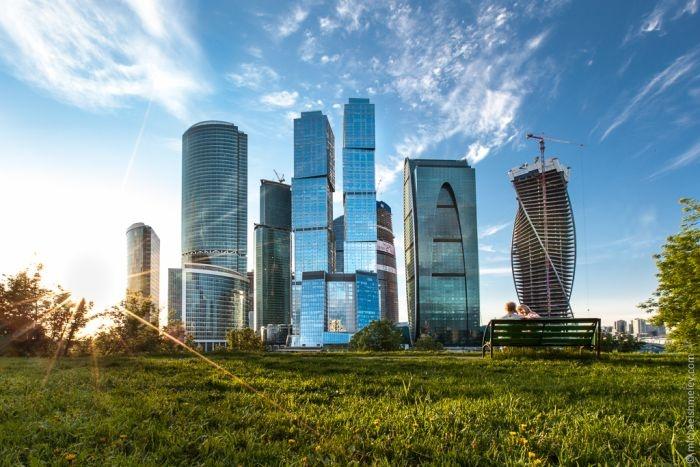 """Виды Москвы с башни """"Федерация"""" ММДЦ (16 фото)"""