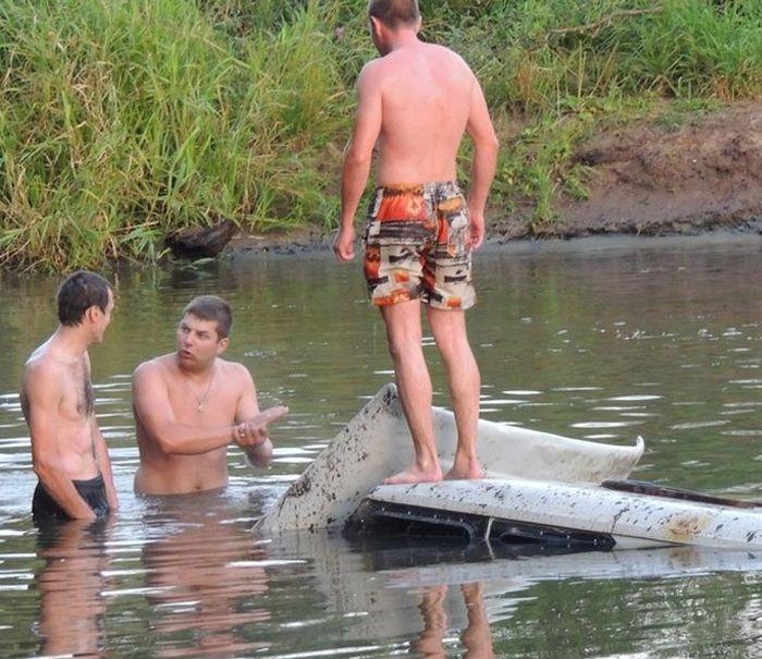 на рыбалке сьездили