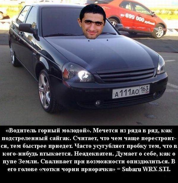 Классификация водителей, угодивших в пробку (7 фото)