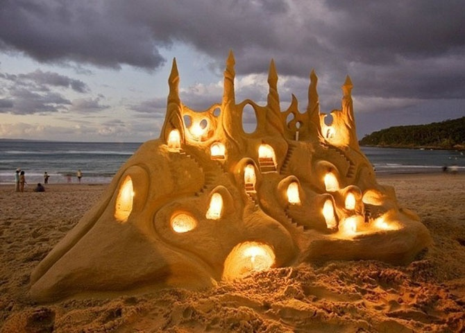 Невообразимые песочные замки (36 фото)