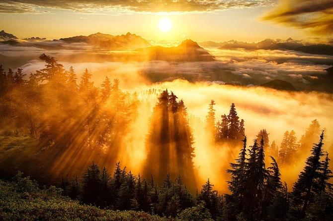 Рассветы и закаты в разных странах (16 фото)