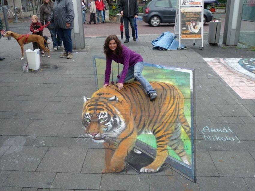 Невероятные уличные 3D-рисунки Николая Арндта (44 фото)