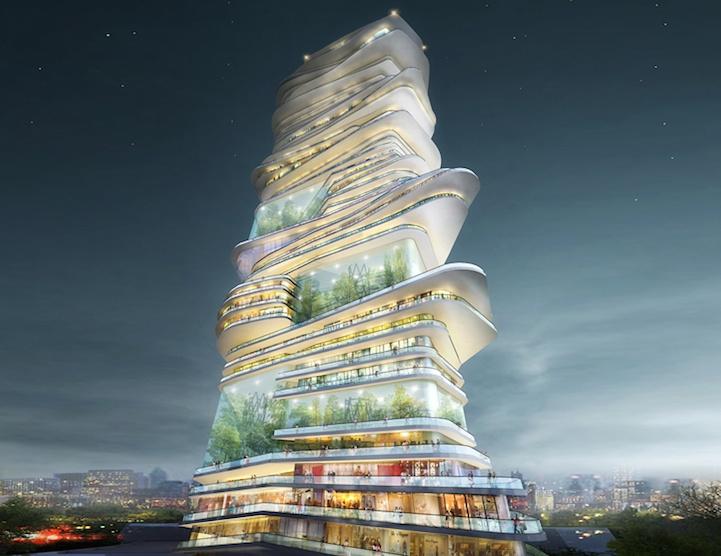Небоскреб будущего: бесконечный вертикальный город (7 фото)