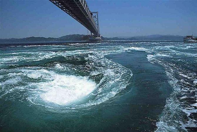 Сильнейшие водовороты в мире (10 фото)