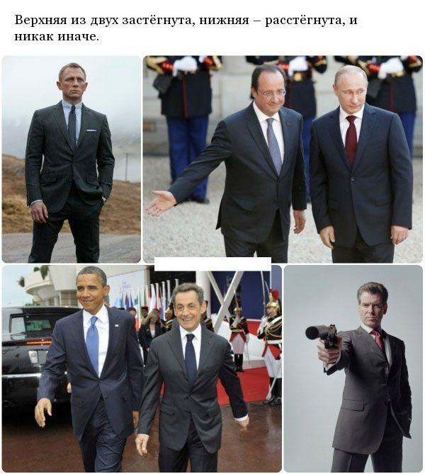 Почему не принято застегивать нижнюю пуговицу на пиджаке? (12 фото)