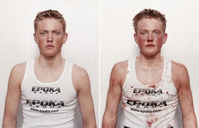 Юные боксеры: до и после боя (25 фото)
