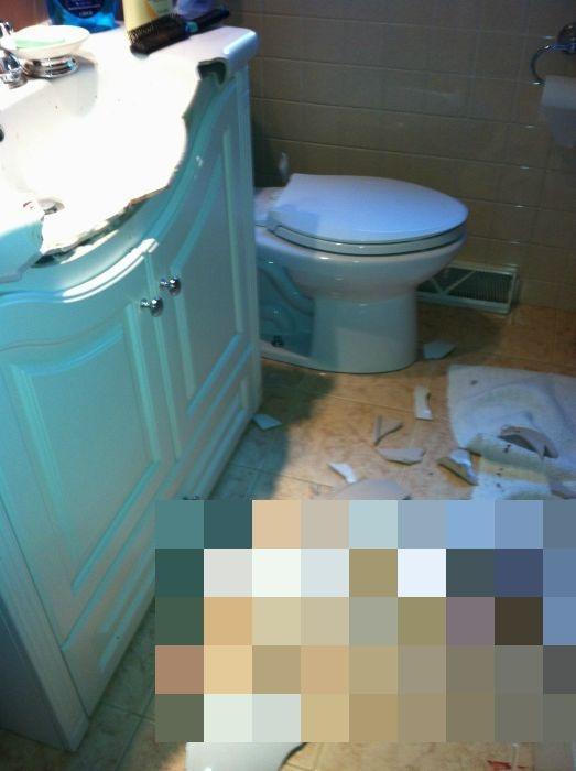 Будьте осторожнее в ванне (6 фото)