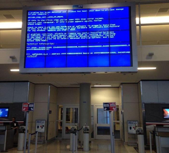 Синий экран смерти в необычных местах