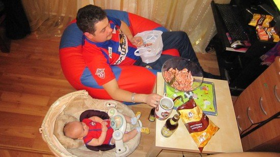 Вот, что получается, когда батя берется за воспитание ребенка