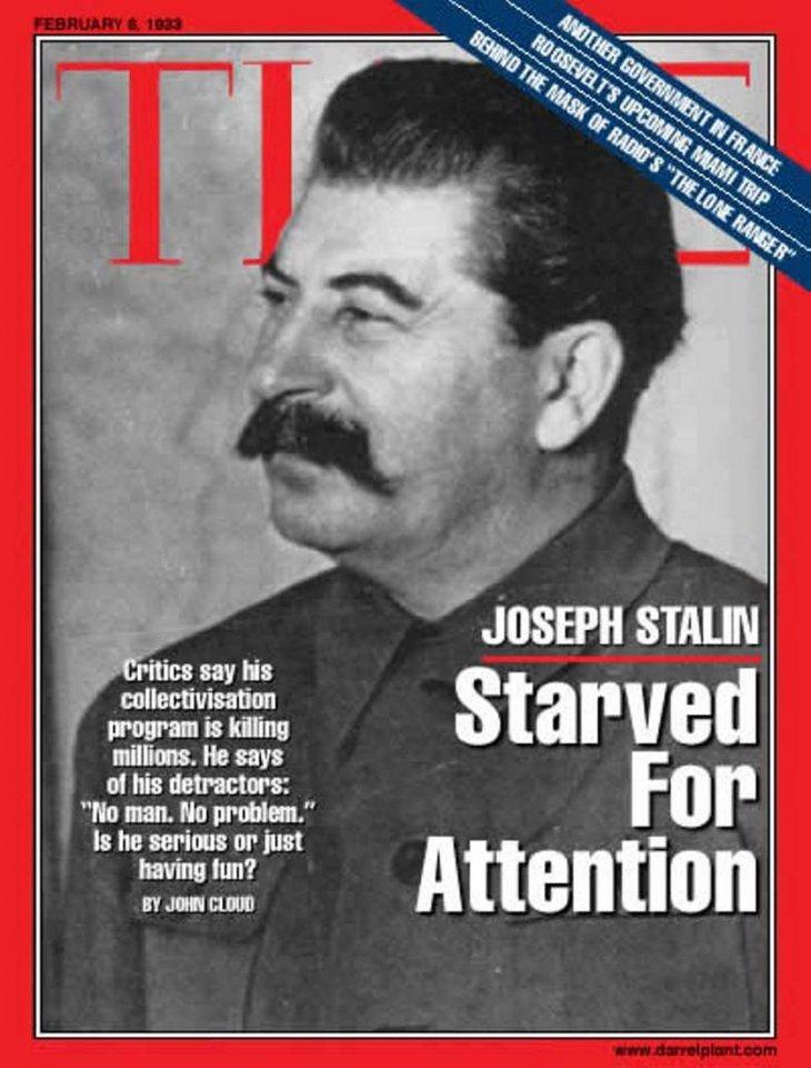 От Сталина до Путина: наши соотечественники на обложке Time