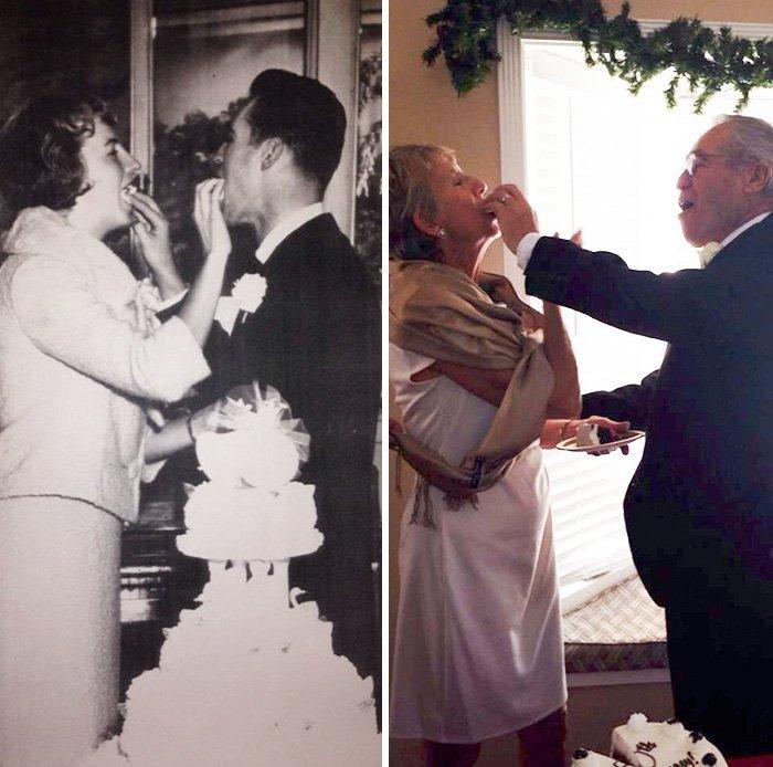 Влюбленные пары - тогда и сейчас