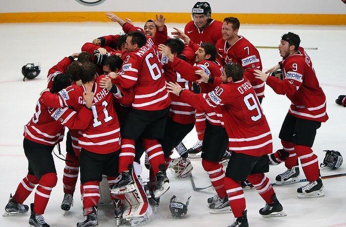 Чемпионами мира по хоккею стали Канадцы