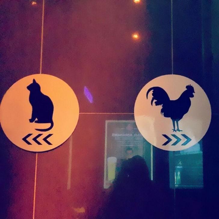 Креативные туалетные знаки