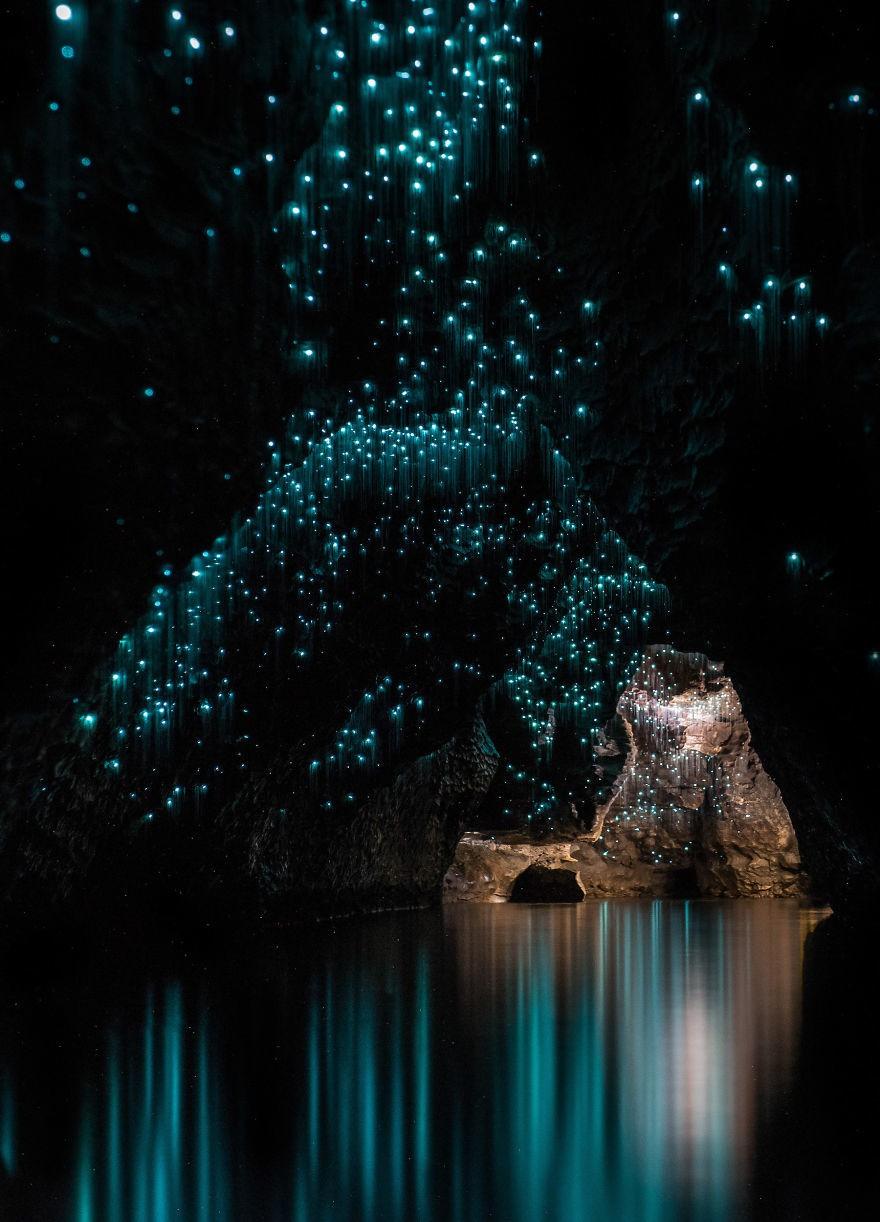 Пещеры Вайтомо – звездное небо из светлячков
