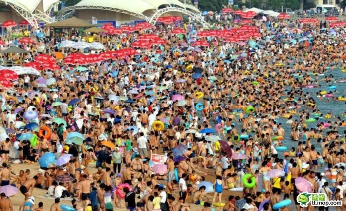 Типичный Китайский пляж