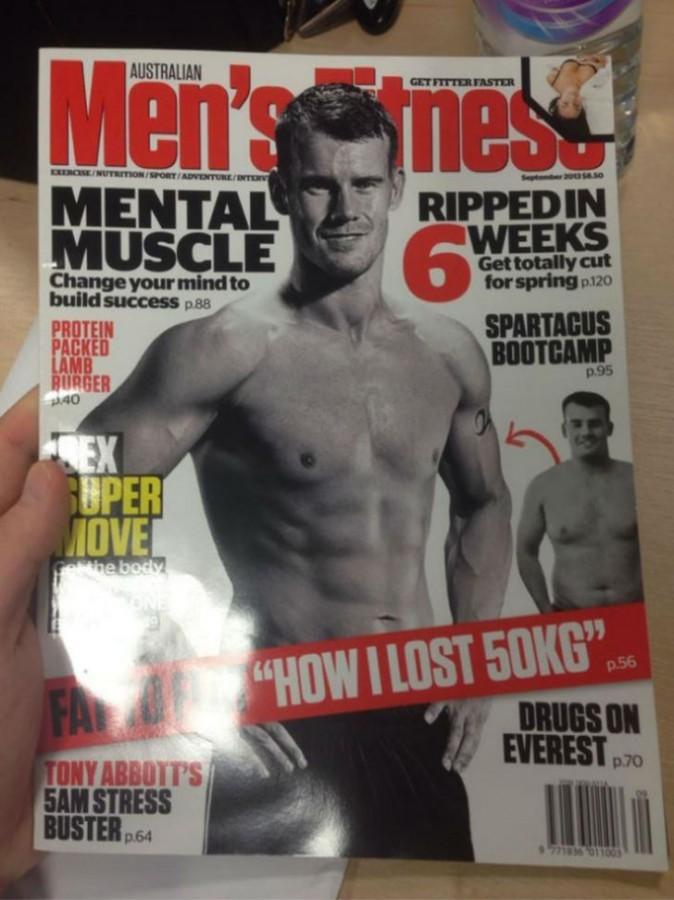 140-килограммовый англичанин решил попасть на обложку журнала и добился этого