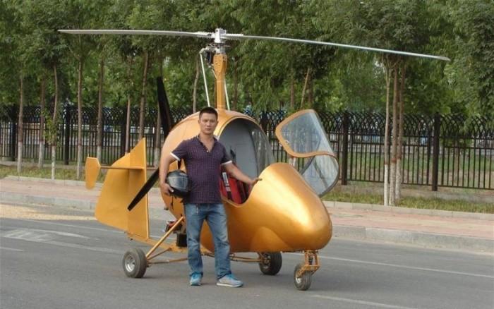 Китаец сделал собственный вертолет