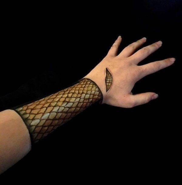 Мастер макияжа Лиша Симпсон создает удивительные иллюзии