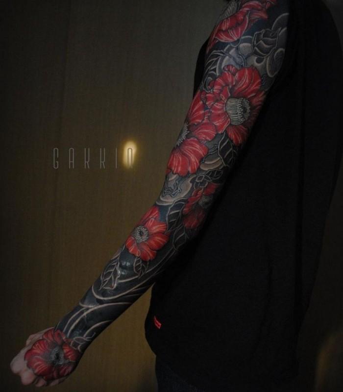 Костюмы из чернил от японского татуировщика