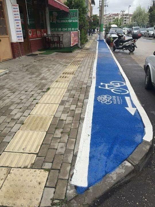В Турции для велосипедистов сделали отдельные дорожки