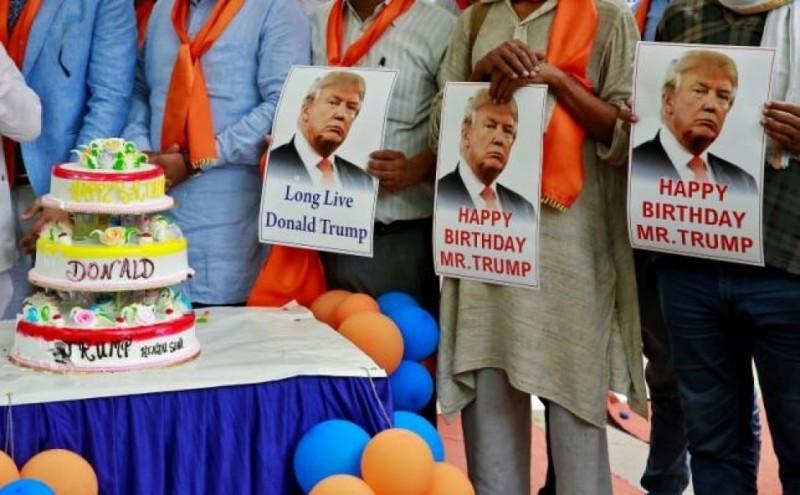 Дональд Трамп отметил юбилей в 70 лет!