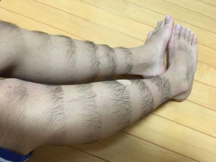 Стильная прическа на ногах от китайского модника (6 фото)