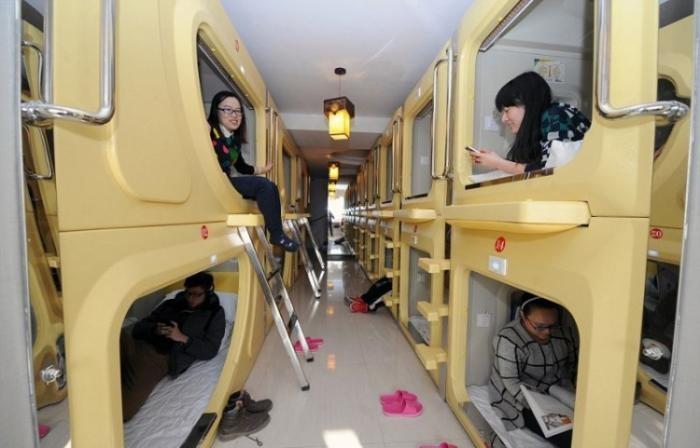 Бюджетный вариант ночевки в Китае (6 фото)