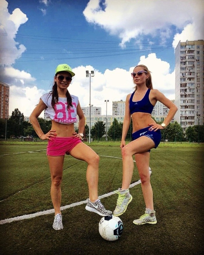 Женский футбол во всей красе