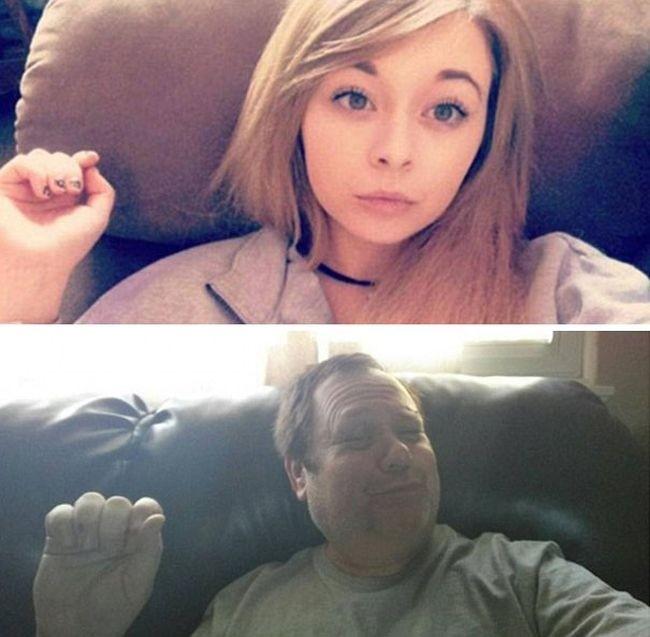 Отец троллит дочь в социальных сетях