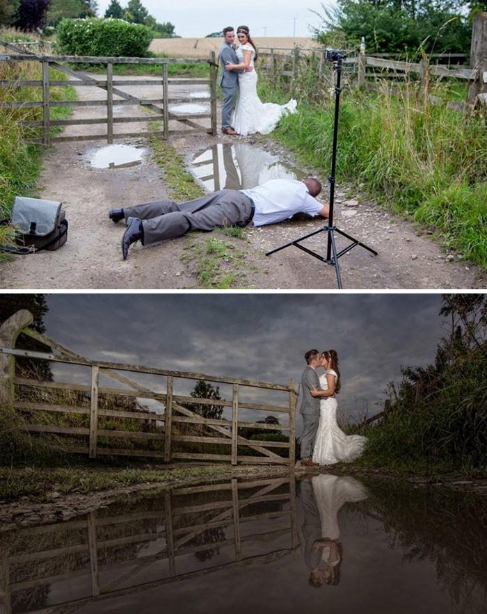 15 фотографий о том, как на самом деле делаются свадебные фото