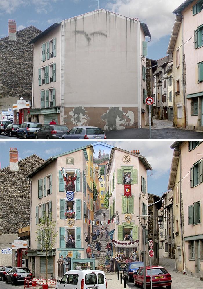 Французский художник вдыхает жизнь в мертвые города