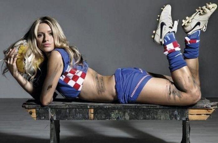 Хорватская модель просится в тренеры российской сборной по футболу