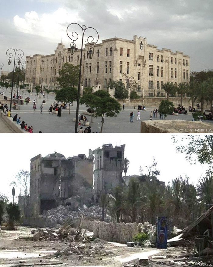 Сирийский город Алеппо до начала войны и сейчас (28 фото)