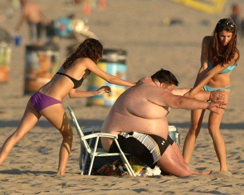Помогите толстяку (6 фото)