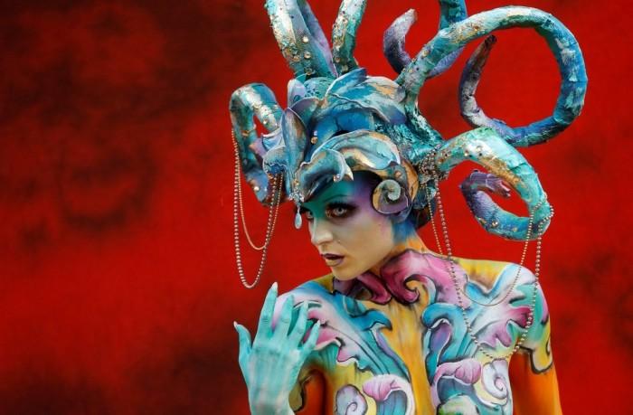 Всемирный боди-арт фестиваль в Австрии